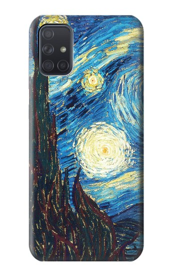 Printed Van Gogh Starry Nights Samsung Galaxy A71 Case