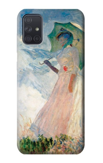 Printed Claude Monet Woman with a Parasol Samsung Galaxy A71 Case