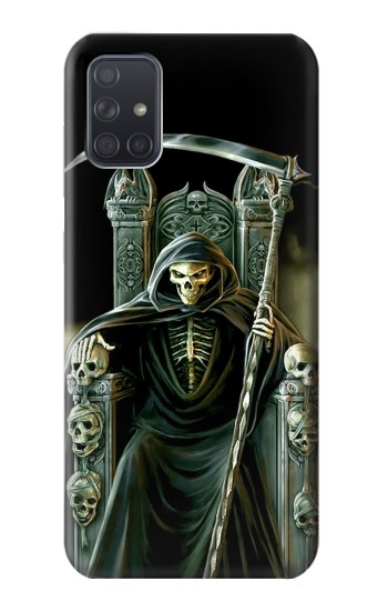 Printed Grim Reaper Skeleton King Samsung Galaxy A71 Case