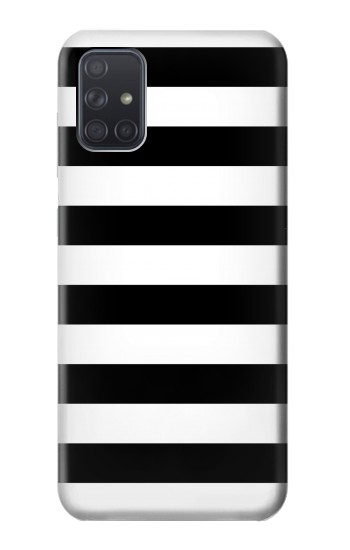 Printed Black and White Striped Samsung Galaxy A71 Case