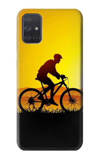 Printed Bicycle Bike Sunset Samsung Galaxy A71 Case