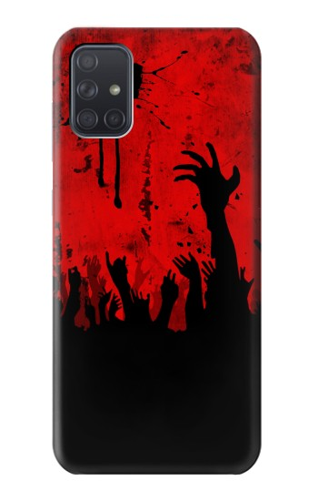 Printed Zombie Hands Samsung Galaxy A71 Case