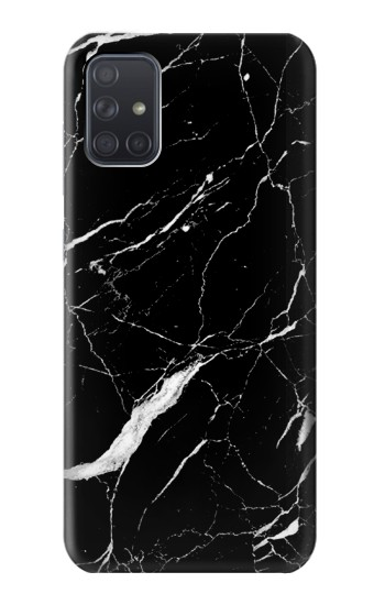 Printed Black Marble Graphic Printed Samsung Galaxy A71 Case