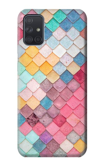 Printed Candy Minimal Pastel Colors Samsung Galaxy A71 Case