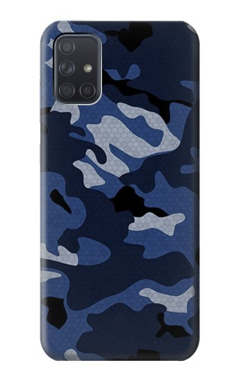 Printed Navy Blue Camouflage Samsung Galaxy A71 Case