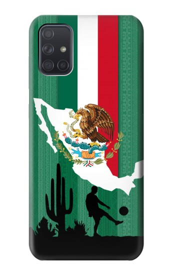 Printed Mexico Football Flag Samsung Galaxy A71 Case
