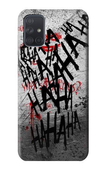 Printed Joker Hahaha Blood Splash Samsung Galaxy A71 Case