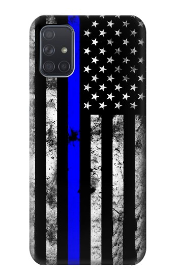 Printed Thin Blue Line USA Samsung Galaxy A71 Case