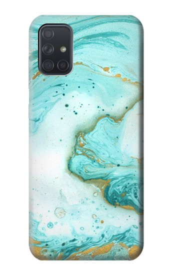 Printed Green Marble Graphic Print Samsung Galaxy A71 Case