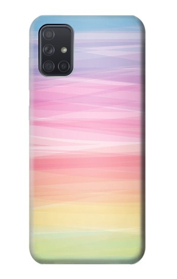 Printed Colorful Rainbow Pastel Samsung Galaxy A71 Case