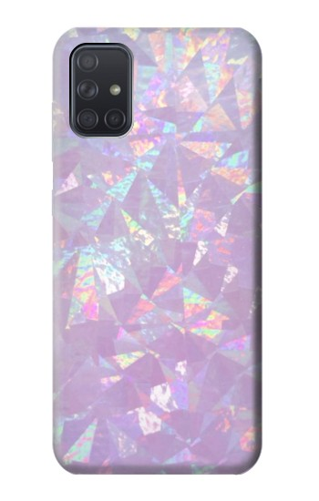Printed Iridescent Holographic Photo Printed Samsung Galaxy A71 Case