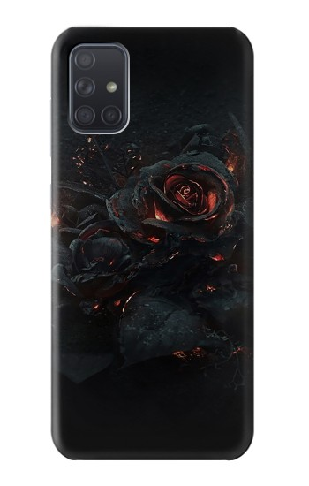 Printed Burned Rose Samsung Galaxy A71 Case