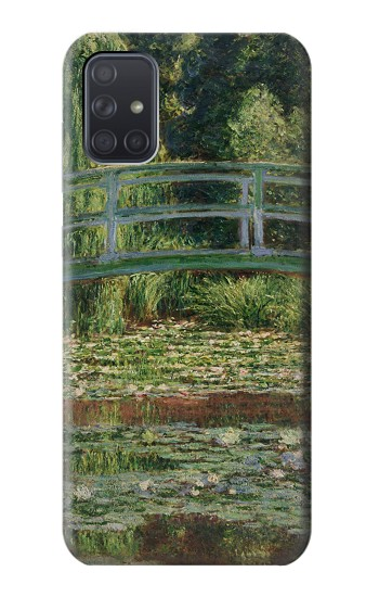 Printed Claude Monet Footbridge and Water Lily Pool Samsung Galaxy A71 Case