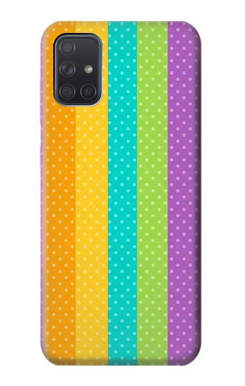 Printed Colorful Rainbow Vertical Samsung Galaxy A71 Case