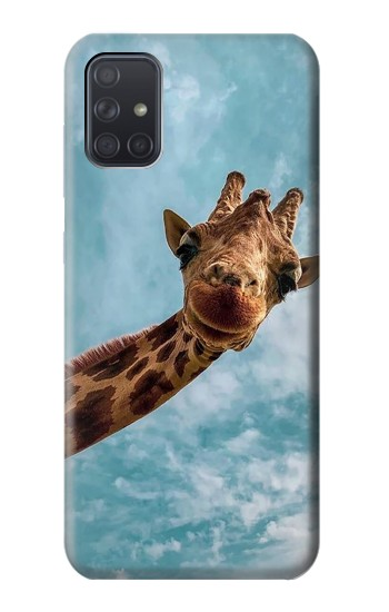 Printed Cute Smile Giraffe Samsung Galaxy A71 Case