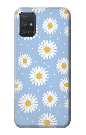 Printed Daisy Flowers Pattern Samsung Galaxy A71 Case