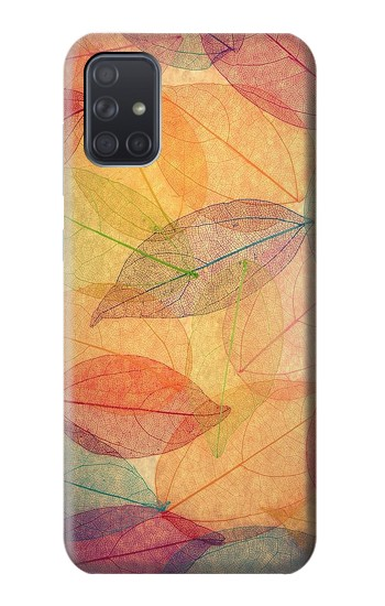 Printed Fall Season Leaf Autumn Samsung Galaxy A71 Case