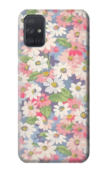Printed Floral Flower Art Pattern Samsung Galaxy A71 Case