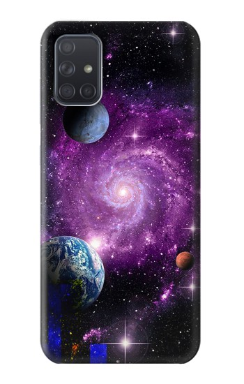 Printed Galaxy Outer Space Planet Samsung Galaxy A71 Case