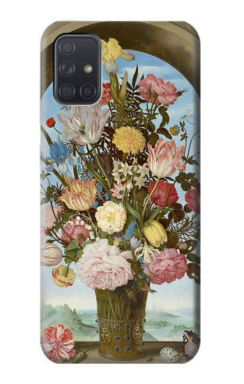 Printed Vase of Flowers Samsung Galaxy A71 Case