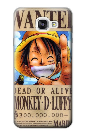 Printed One Piece Monkey D Luffy Wanted Poster Samsung Galaxy A7 (2016) Case