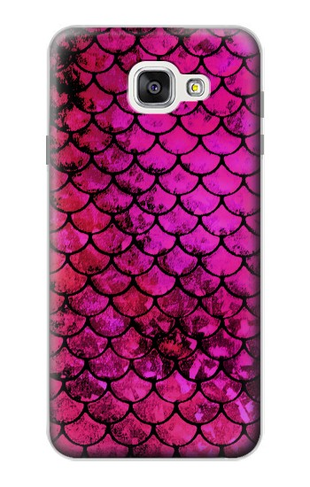 Printed Pink Mermaid Fish Scale Samsung Galaxy A7 (2016) Case
