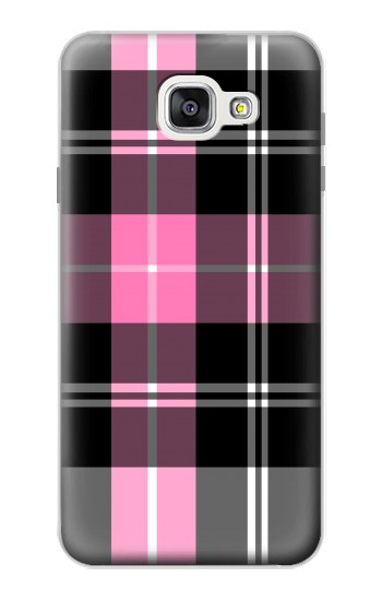Printed Pink Plaid Pattern Samsung Galaxy A7 (2016) Case
