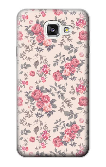 Printed Vintage Rose Pattern Samsung Galaxy A7 (2016) Case