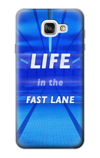 Printed Life in the Fast Lane Swimming Pool Samsung Galaxy A7 (2016) Case