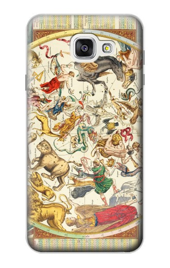 Printed Antique Constellation Map Samsung Galaxy A7 (2016) Case