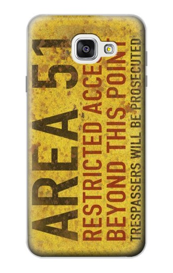 Printed Area 51 Restricted Access Warning Sign Samsung Galaxy A7 (2016) Case