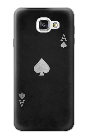 Printed Black Ace of Spade Samsung Galaxy A7 (2016) Case