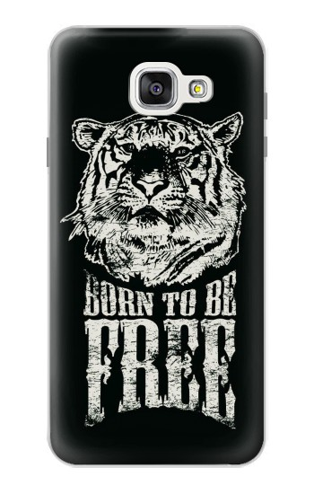 Printed Born to Be Free Tiger Samsung Galaxy A7 (2016) Case