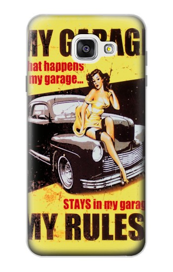 Printed My Garage Pinup Girl Samsung Galaxy A7 (2016) Case