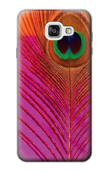 Printed Pink Peacock Feather Samsung Galaxy A7 (2016) Case