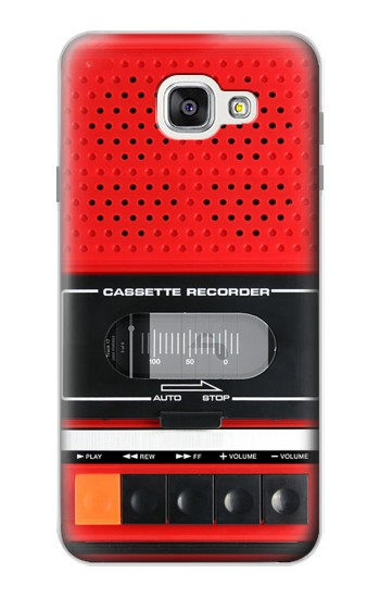 Printed Red Cassette Recorder Graphic Samsung Galaxy A7 (2016) Case