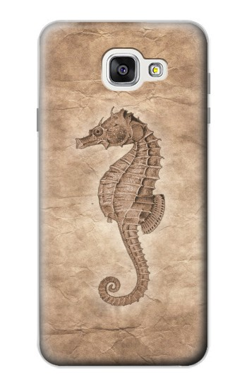 Printed Seahorse Old Paper Samsung Galaxy A7 (2016) Case