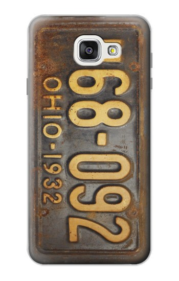 Printed Vintage Car License Plate Samsung Galaxy A7 (2016) Case