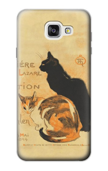 Printed Vintage Cat Poster Samsung Galaxy A7 (2016) Case
