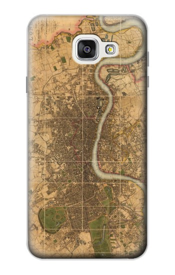 Printed Vintage Map of London Samsung Galaxy A7 (2016) Case