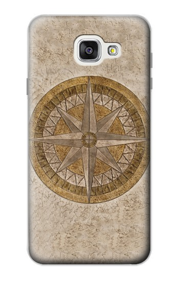 Printed Windrose Circle Stamp Samsung Galaxy A7 (2016) Case