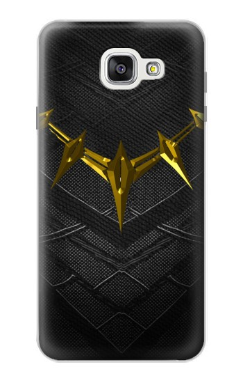 Printed Black Panther Inspired Costume Gold Necklace Samsung Galaxy A7 (2016) Case