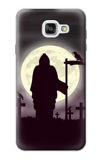 Printed Night Moon Cemetery Samsung Galaxy A7 (2016) Case