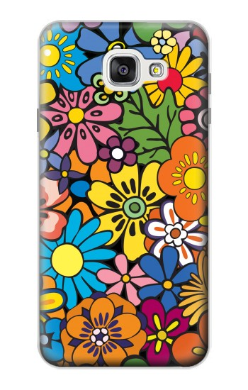 Printed Colorful Flowers Pattern Samsung Galaxy A7 (2016) Case