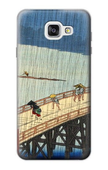 Printed Utagawa Hiroshige Sudden shower over Shin Oashi bridge and Atake Samsung Galaxy A7 (2016) Case