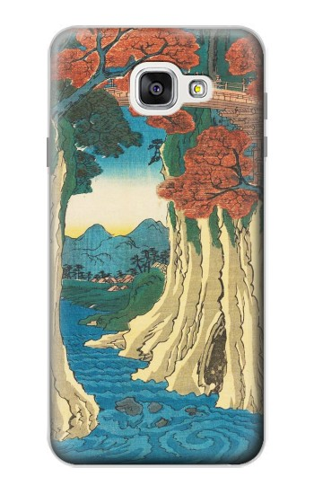 Printed Utagawa Hiroshige The Monkey Bridge in Kai Province Samsung Galaxy A7 (2016) Case