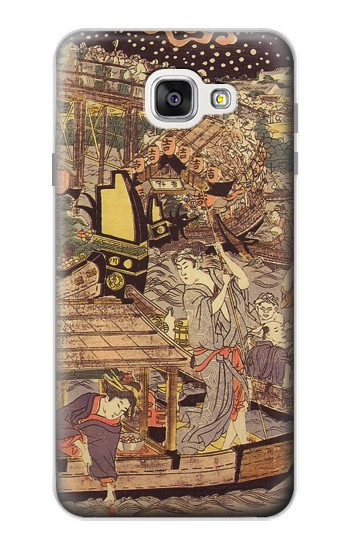 Printed Utagawa Kuniyasu Fireworks at Ryogoku Bridge Samsung Galaxy A7 (2016) Case