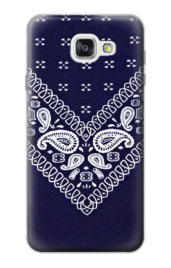 Printed Navy Blue Bandana Pattern Samsung Galaxy A7 (2016) Case