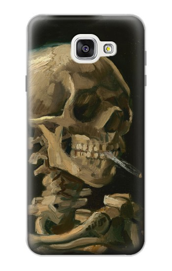 Printed Vincent Van Gogh Head Skeleton Cigarette Samsung Galaxy A7 (2016) Case