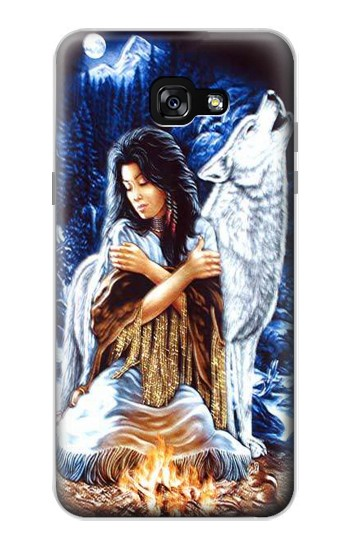 Printed Grim Wolf Indian Girl Samsung Galaxy A7 (2017) Case